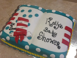 Dr.Seuss Shower  Cake