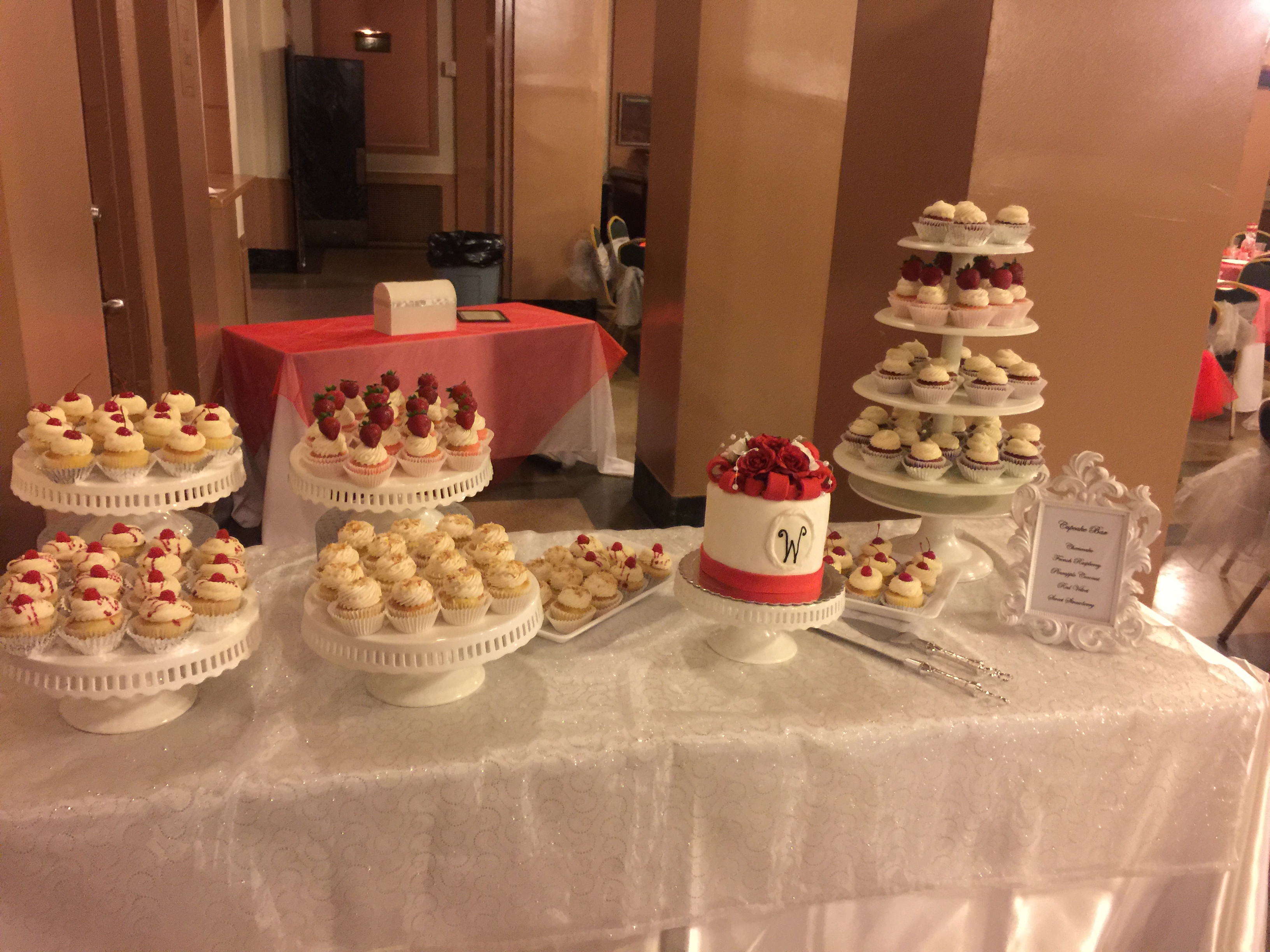 White and Red Dessert Buffet