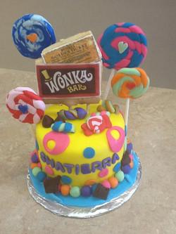 Wonka Theme Fondant Cake