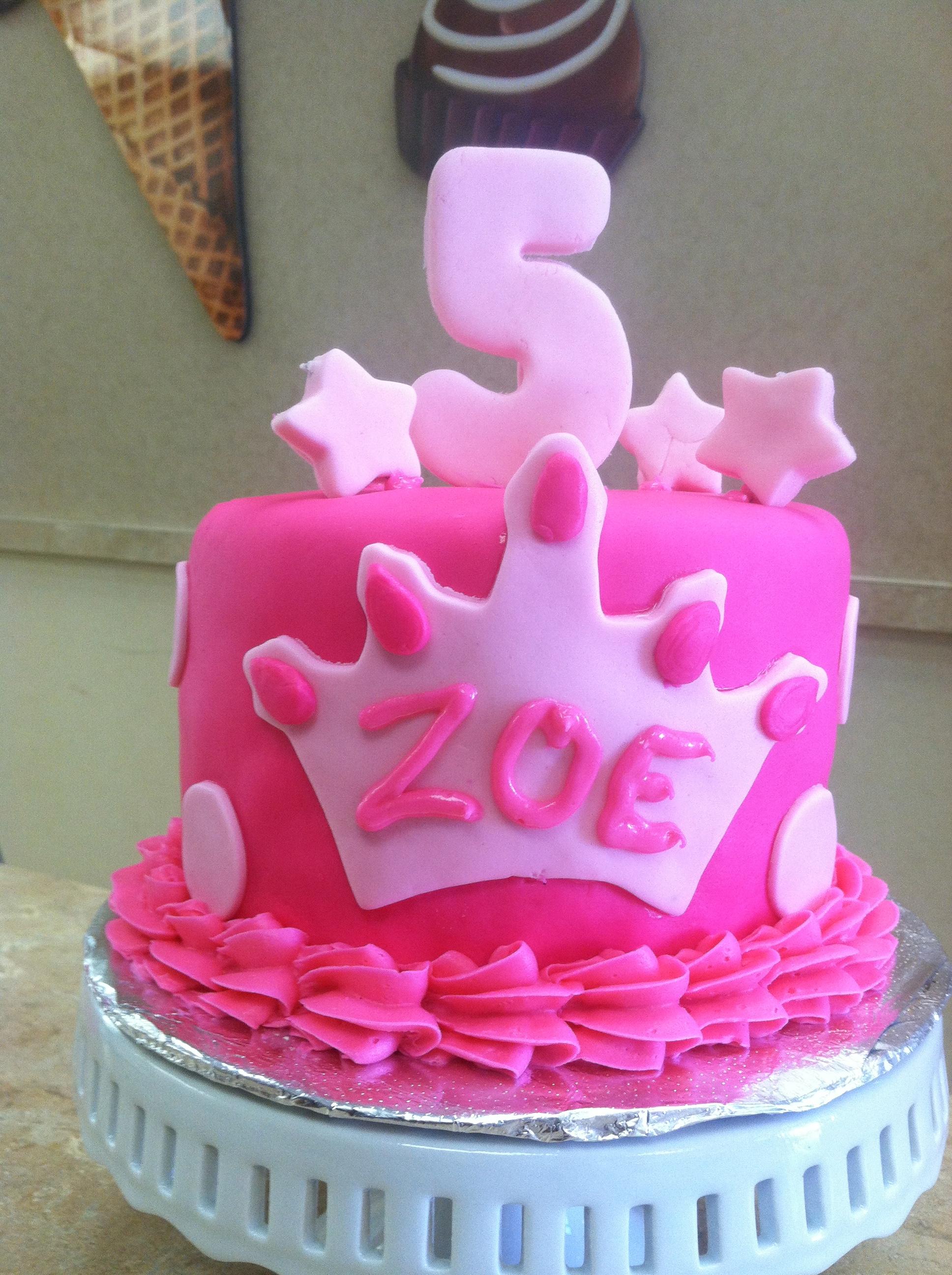 Pink Princess Fondant Cake