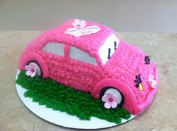 Pink Car Cake