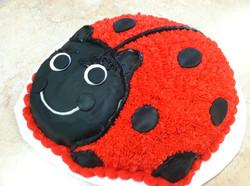 Ladybug Buttercream Cake