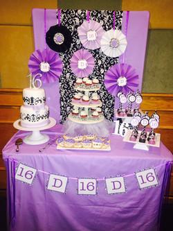 Sweet 16 Dessert Table