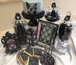 Black and Silver Candy Buffet