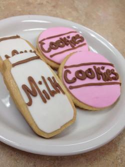 Milk and Cookies Theme Cookies