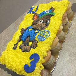 Paw Sheriff Cupcake Cake