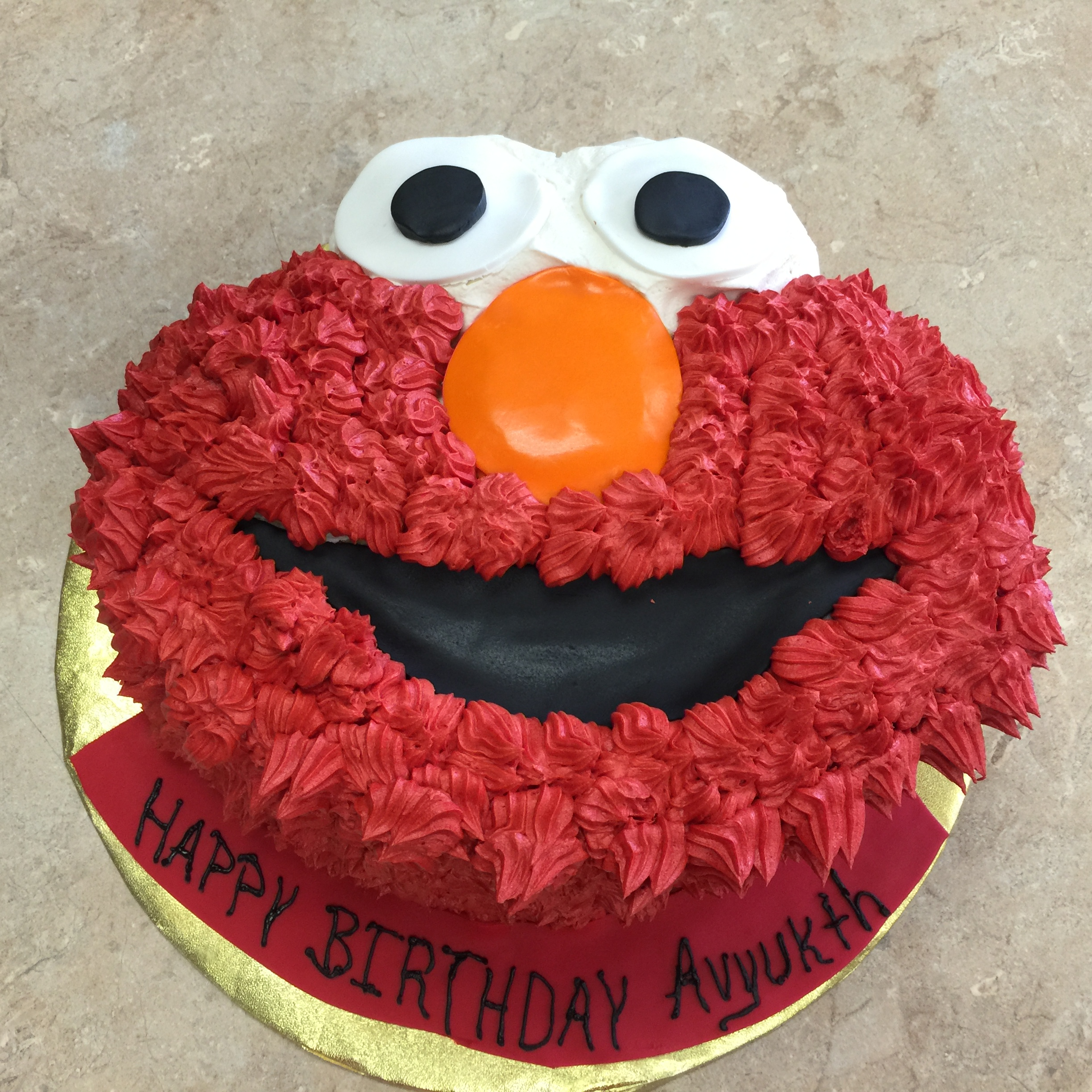 Elmo Face Buttercream
