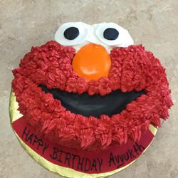 Elmo Face Buttercream