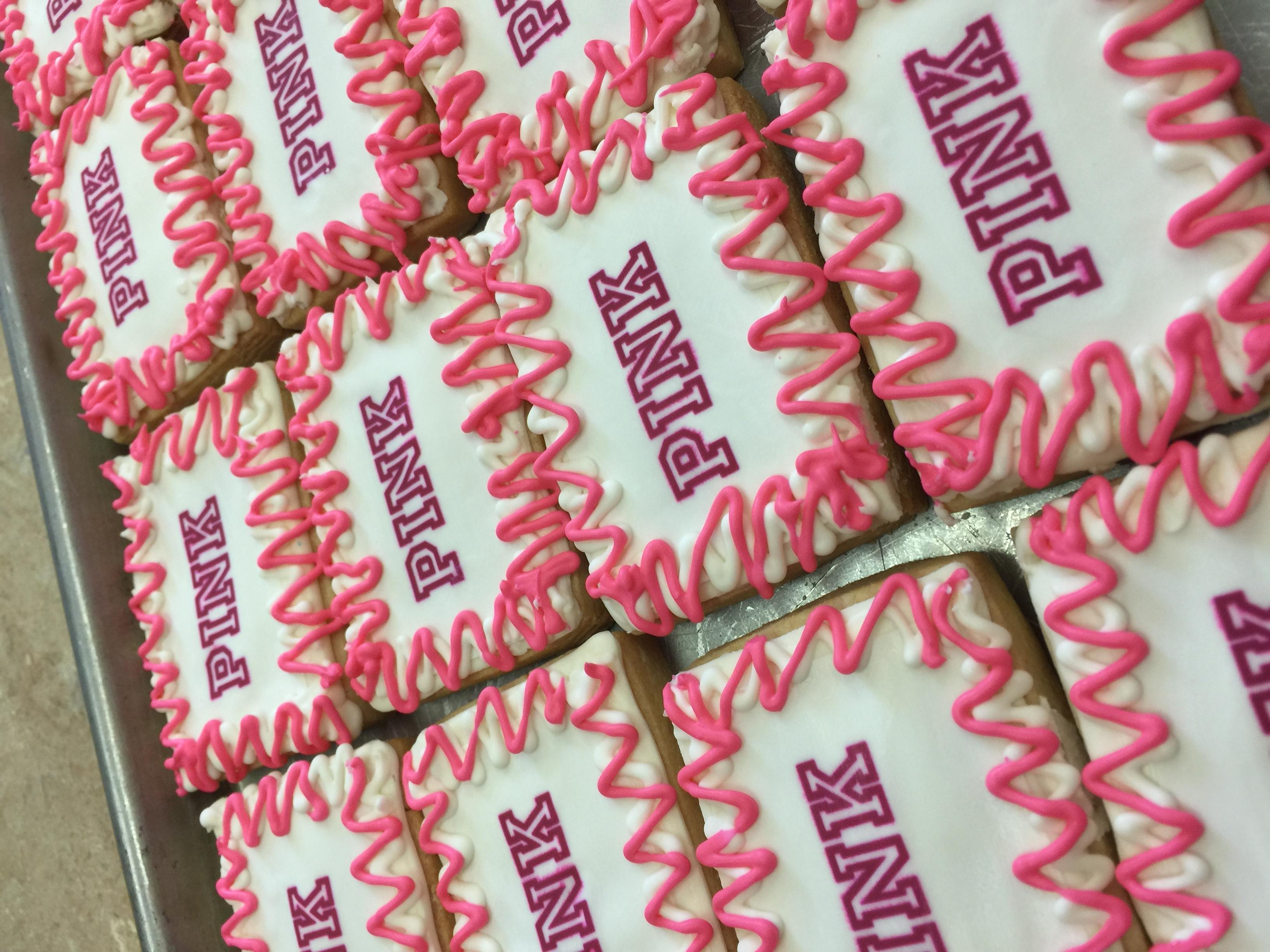 Pink Logo Cookies