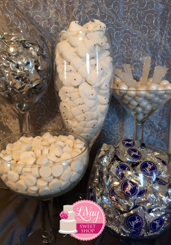 All White Candy Table