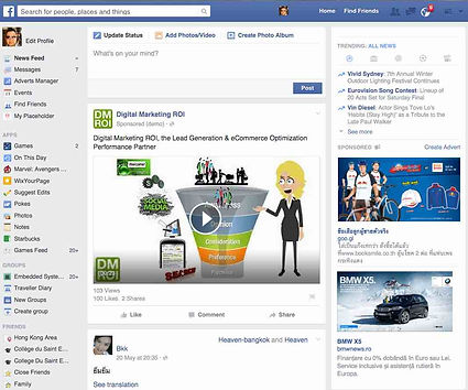 Show up in Desktop Newsfeed