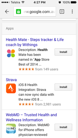 Google Search Promoted App Download