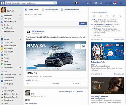 Display ad in newsfeed clicks to Landing Page URL