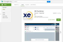 Get users to this XE Google Play App