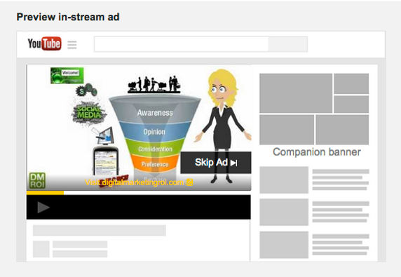 Your Video Ad runs BEFORE another.