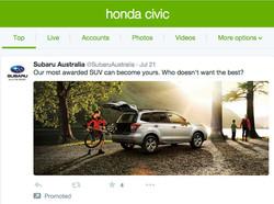 Subaru goes Guerilla on Honda