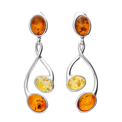 AMBER SILVER EARRINGS MULTICOLOR