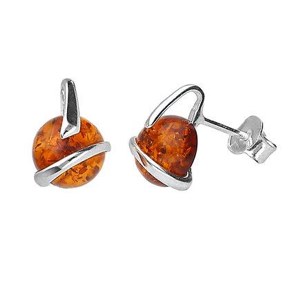 AMBER DESIGNER STUD EARRINGS