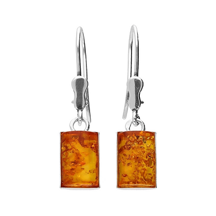 AMBER DROP SQUARE EARRINGS