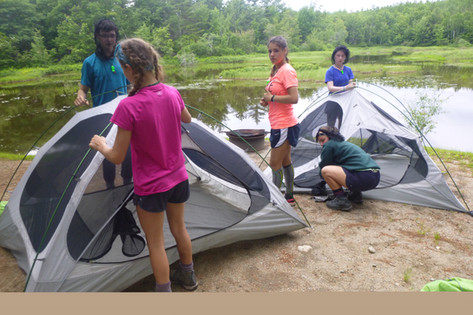 setting up tents