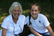 Grandmother visiting her camper