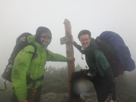Windy summit on the Maine Appalachian Trail