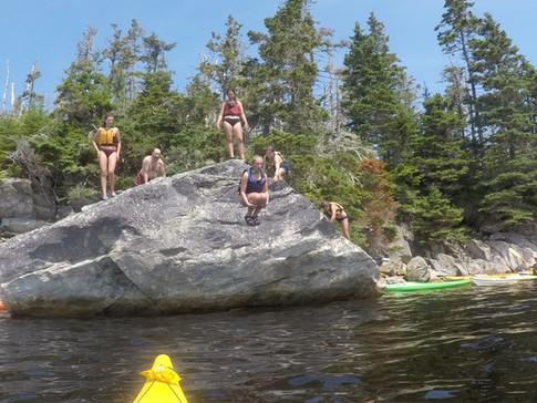 Nova Scotia cliff jumping