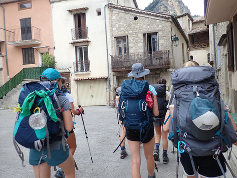 Exploring a French village