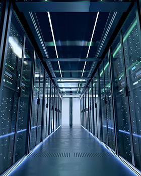 Business server room that holds entire technology infrastructure