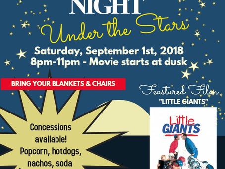 Movie Night Under the Stars (September, 2, 2018)