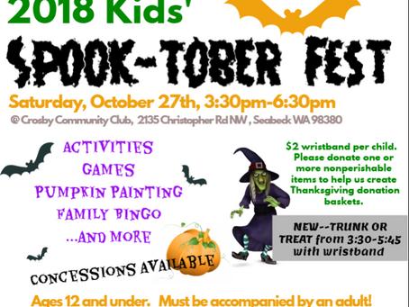 (New) 2018 Kids'Spook-tober Fest (October 27, 2018)