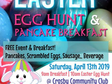 2019 Easter Egg Hunt & Breakfast (April 13, 2019)