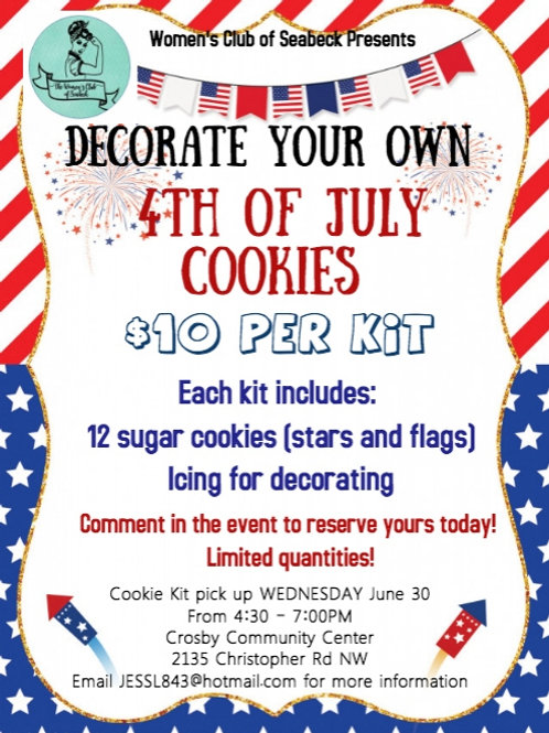 4th July Cookie Kit