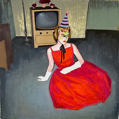 GIRL WITH PARTY HAT - Mercedes Helnwein