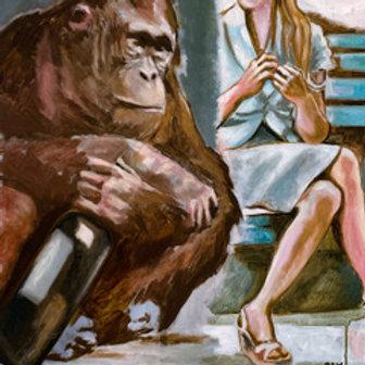 Monkey vs Beauty - Michael Baumer