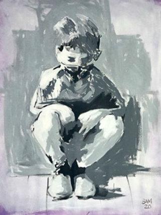 Hockend - Michael Baumer