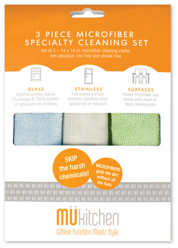 3 Piece Microfiber Cleaning Set