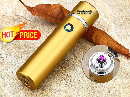 Matte Gold Plasma BULLET Lighter (Double Arc)