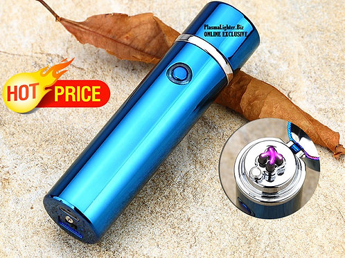 Blue Sapphire Plasma BULLET Lighter (Double Arc)