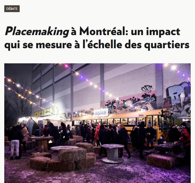 Le placemaking à Montréal