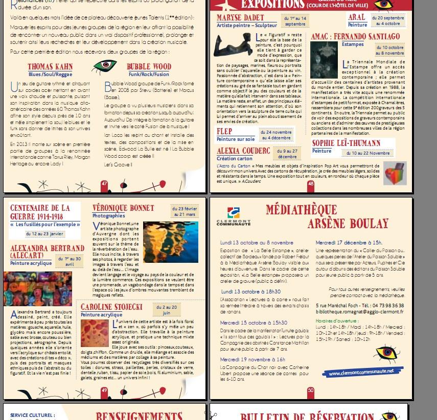 Bulletin Culturel de Romagnat 2015..
