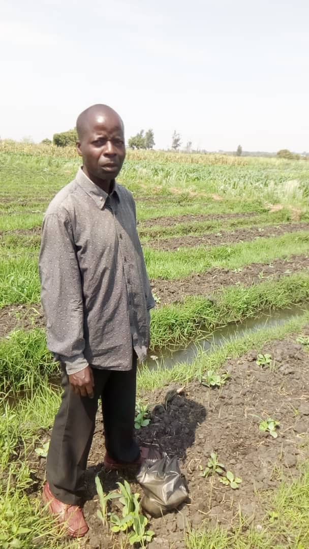 Obet grows a large vegetable garden and sells the vegetables for a living.