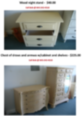 Wood Night Stand and Chest of draws and