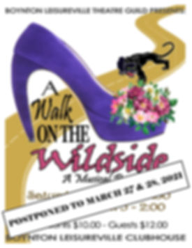 Poster Postpone - Walk on the Wild Side.