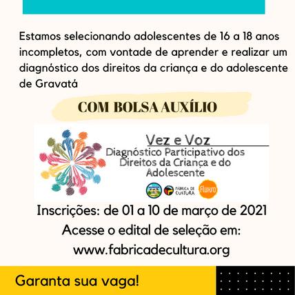 Edital de seleção nº1/2021