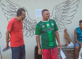 Roda de conversa com jovens do projeto Felicidade Sem Drogas