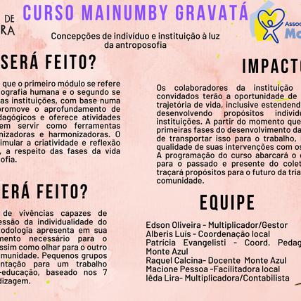 Inscrições do Curso Mainumby Gravatá