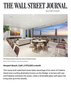 This Newport Beach home has views of Catalina Island.