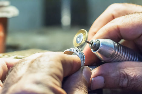 A ring being handmade by a jeweller