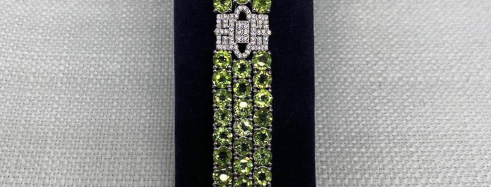 Peridot & Crystal Bracelet